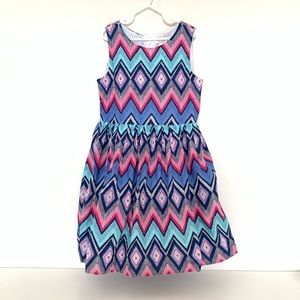 Children's place dress blue pink white